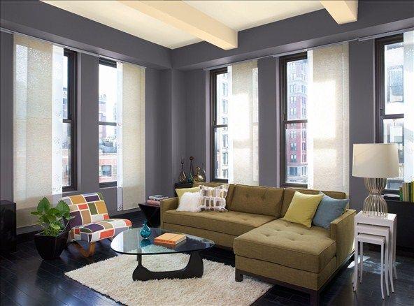 Elegant Urban Living Room Wall Color Tempest