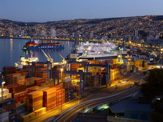 Bahía de Valparaiso. Chile.