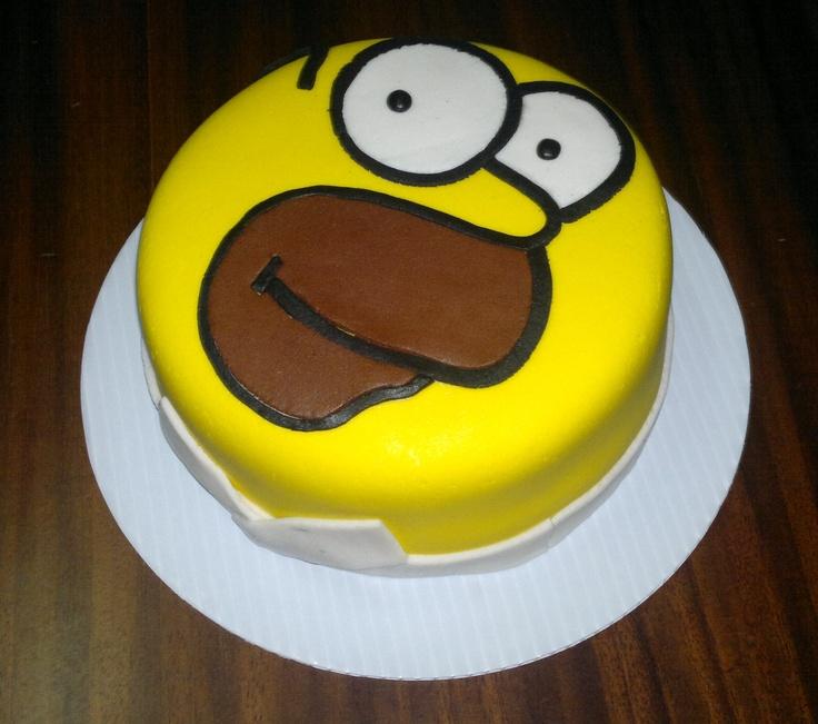 Homer Simpson Chocolate Cake
