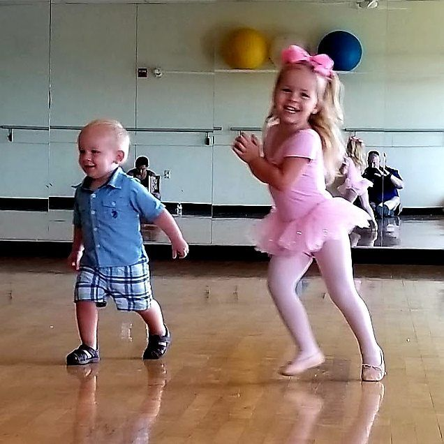 Baby boy joining his ballerina sister during Ballet class   #tippitoes #tippitoesdance #ballet #balletdancer #balletdancers #kids #danse #danseclassique #tutu #siblings #brother #sister #toddlers #show #scene #babies #musical #dancing #children #enfants #choreography #dancer #dancers #danseur #danseuse #ballerina #ballerinalife #ballerine #danse