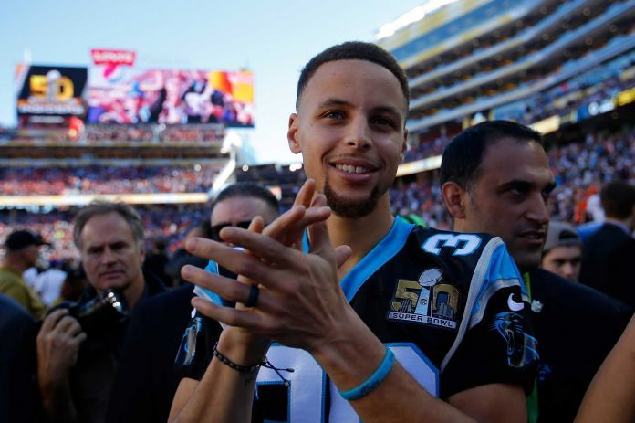 Stephen Curry of the Golden State Warriors stands on the field prior to Super Bowl 50 between the Denver Broncos and the Carolina Panthers at Levi's Stadium on February 7, 2016 in Santa Clara, California. Photo: Kevin C. Cox, Getty Images / 2016 Getty Images