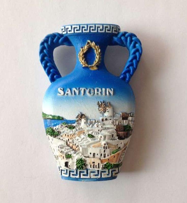 Santorini Attractions Vase 3D Refrigerator Fridge Magnets Greece Tourism…