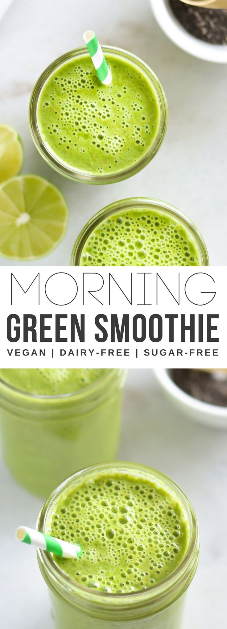 A delicious and simple 5-ingredient sweet and tangy green smoothie that can easily be customized. Made with fresh spinach, tangy lime, and sweet banana, this smoothie is perfect for busy mornings or as an afternoon snack. Either way, this smoothie won't disappoint.