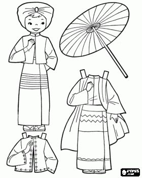 dolls in costume coloring sheets burma girl doll with traditional dress coloring page dolls. Black Bedroom Furniture Sets. Home Design Ideas