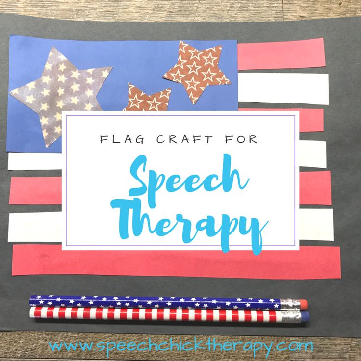 Address a variety of goals in your speech therapy sessions with this flag craft!  Great for Flag Day, Independence Day or Memorial Day!  www.speechchicktherapy.com