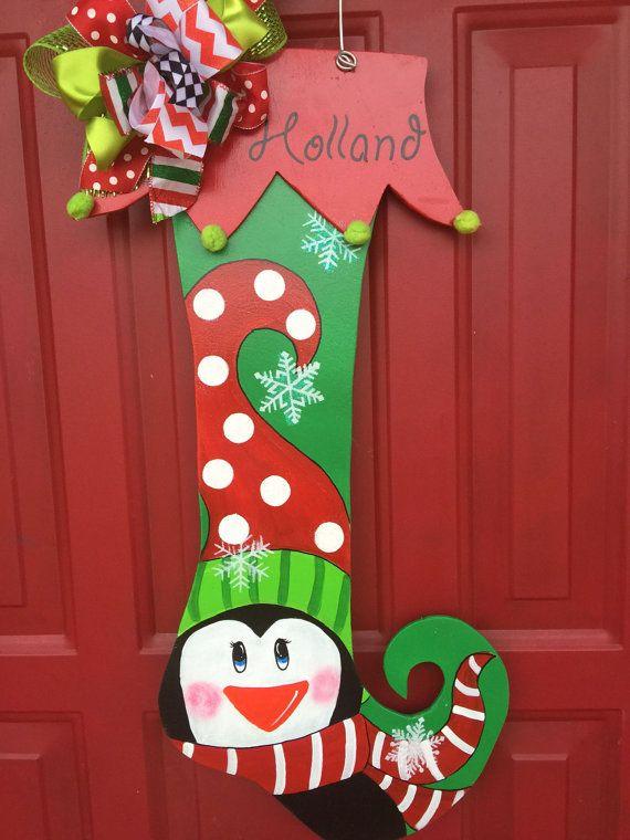 78 best Stocking Door Hangers images on Pinterest  Christmas