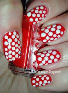 Canada Day Polkadot Manicure  Addicted to Lacquer