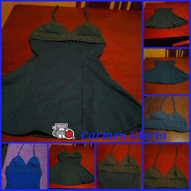 Top a crochet en vestido