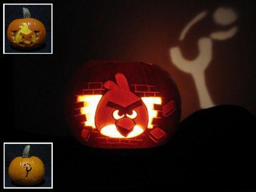 Angry Birds angry pumpkin