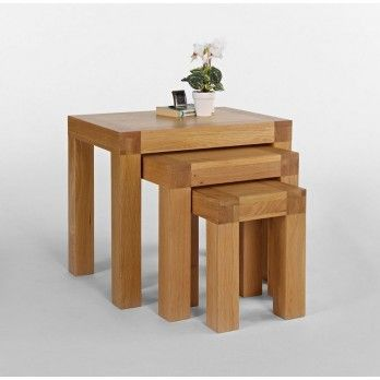 Santana Blonde Oak Nest of Tables