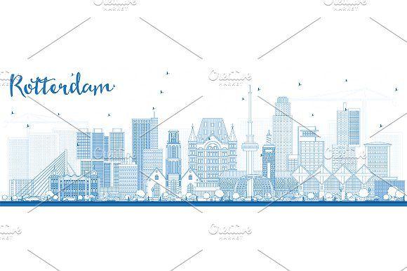 #Outline #Rotterdam #Netherlands  by Igor Sorokin on @creativemarket