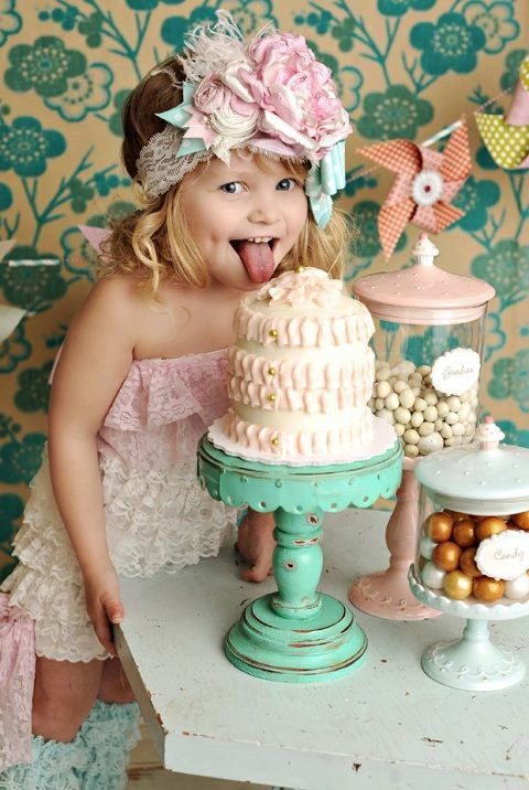 So cute: Girls, Idea, Baby Girl, Cake Stands, Hair Bows, Kids, Photo, Birthday Party