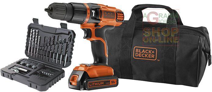 BLACK AND DECKER TRAPANO A PERCUSSIONE BATTERIA 18VP LITIO MOD. EGBL188S32 https://www.chiaradecaria.it/it/black-decker/1843-black-and-decker-trapano-a-percussione-batteria-18vp-litio-mod-egbl188s32.html