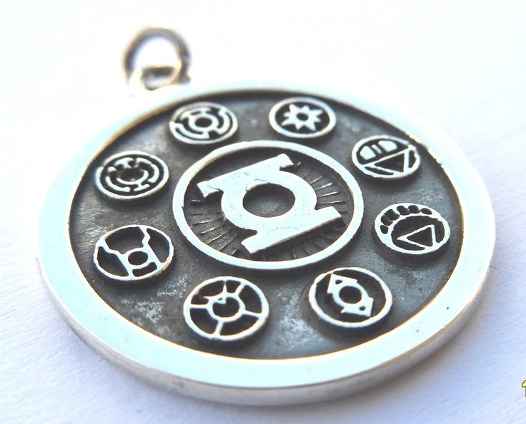 solid sterling silver 925 green lantern corps by