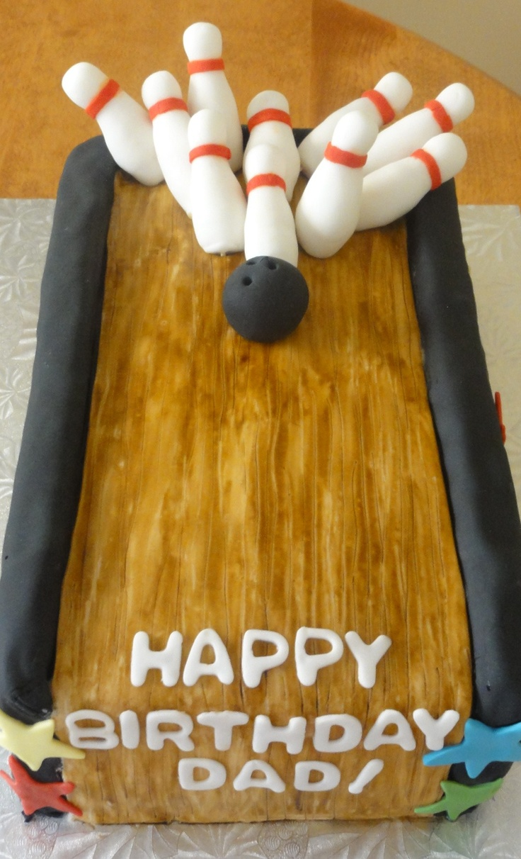 How To Make A Bowling Pin Birthday Cake