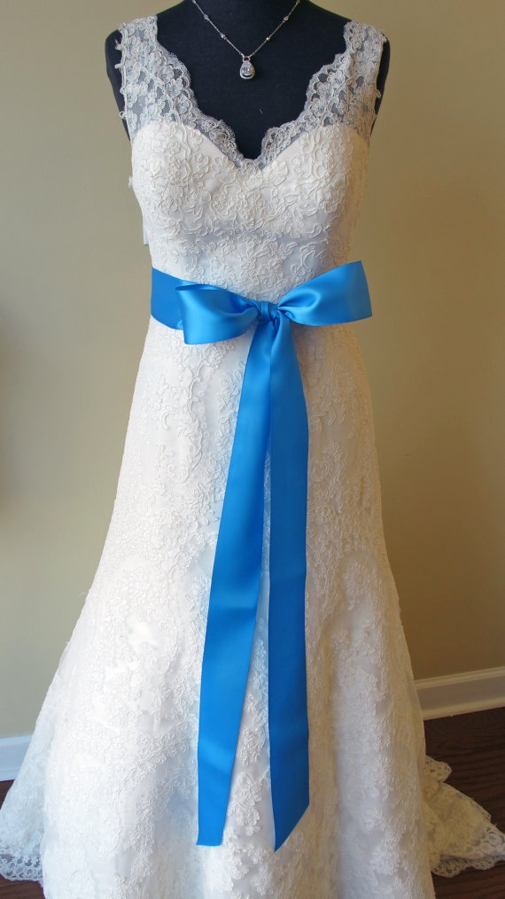 10 best images about cornflower blue on pinterest blue for Blue sash for wedding dress
