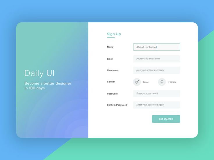 #01 - Sign Up   Daily UI Challenge