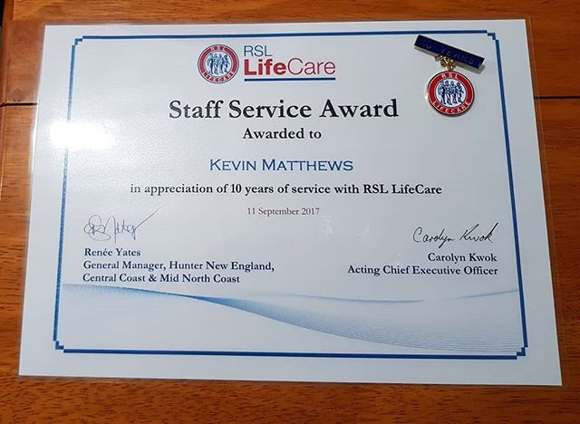 Ten years service recognition