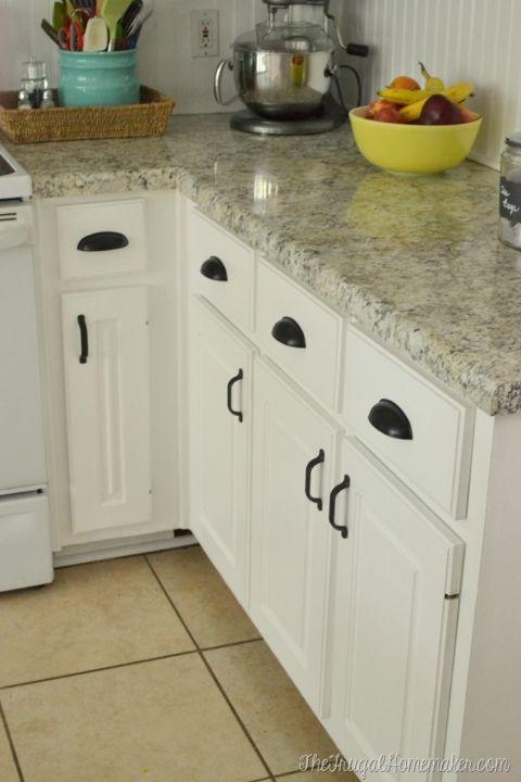 Kitchen With Typhoon Ice Laminate Countertop