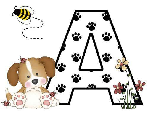 Alphabet PUPPY DOG Wall Border Decals Baby Girls Nursery Kids Room Letter Decor. #decampstudios  http://stores.ebay.com/DeCamp-Studios
