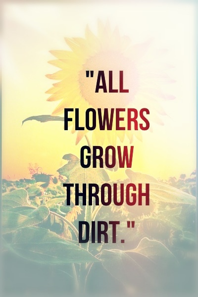 We can't appreciate the sunshine without a little rain, nor can we grow without trials to help us dig our roots so deep.