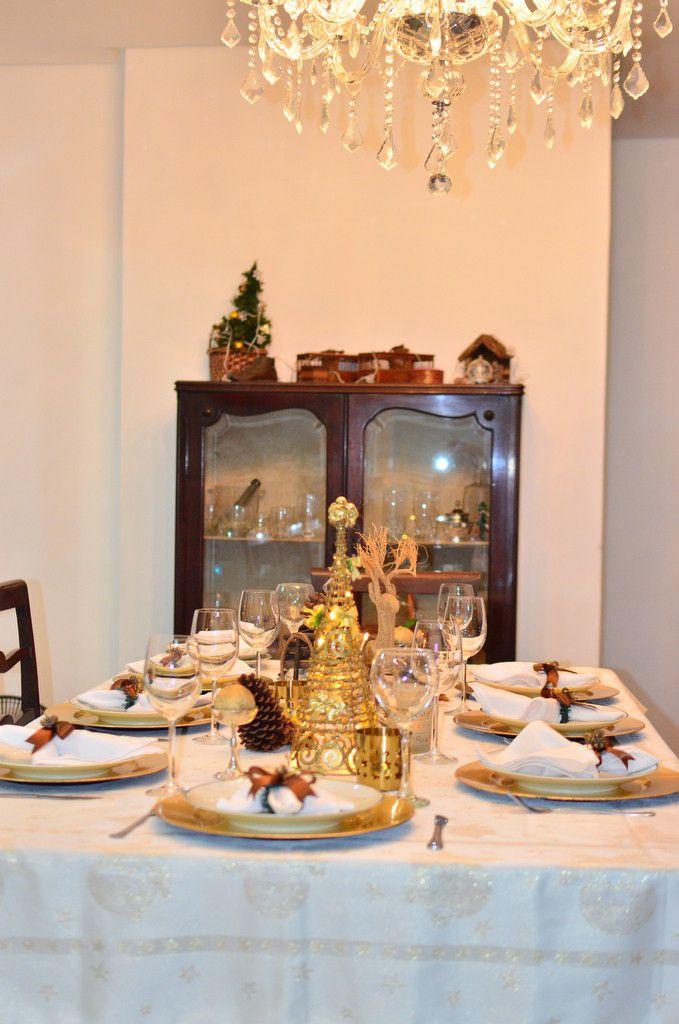Mesa de natal dourada 3