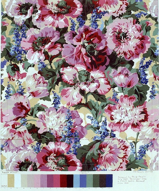 Philip Jacobs fabric0527 by philip jacobs, via Flickr, fabric fabric, surface design, surface pattern, floral