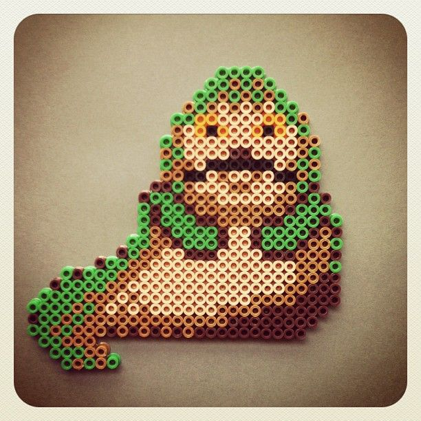 Star Wars Jabba the Hutt perler beads by bigbharmon