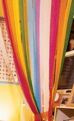 cortina de papel crep para decoracin en fiestas infantiles voil