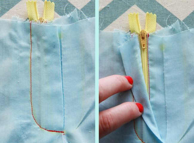 Tuto en image coudre fermeture pantalon | Coletterie