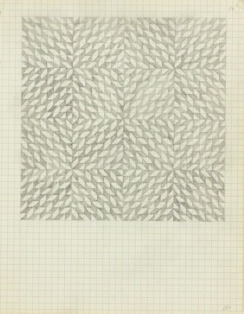 Anni Albers, Drawing from a notebook, (ca.) 1970  Pencil on paper. JAAF: 1994.10.130  25.4 x 19.685 cm (10 x 7.75 inches)  The Josef and Anni Albers Foundation, Bethany, Connecticut