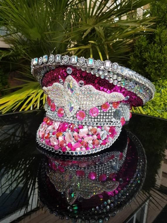 2f740ccbd Perfect in Pink festival hat, festival hat, Crystal AB, burning man ...