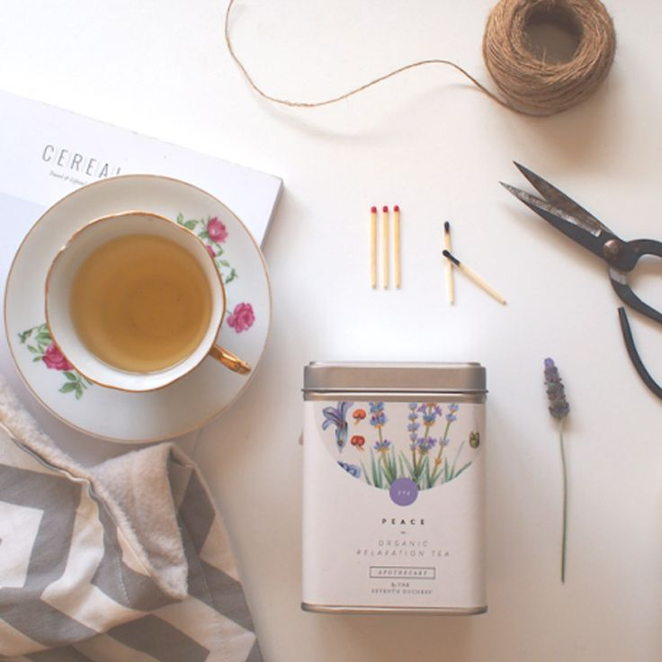 The Seventh Duchess' Peace tea is a careful blend of chamomile, refreshing spearmint, lavender and passionflower – the traditional Native American remedy for insomnia.