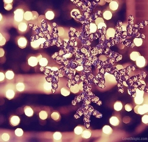 Sparkling Snowflake Bokeh Lights Winter Glitter Christmas Ornament Christmas  Lights