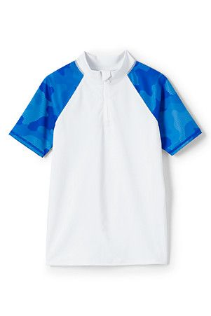 Boys' Zip-neck Rash Vest