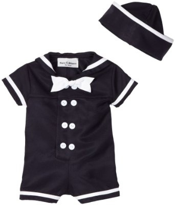 little boy sailor suit - lol - he would kill me when he grows up