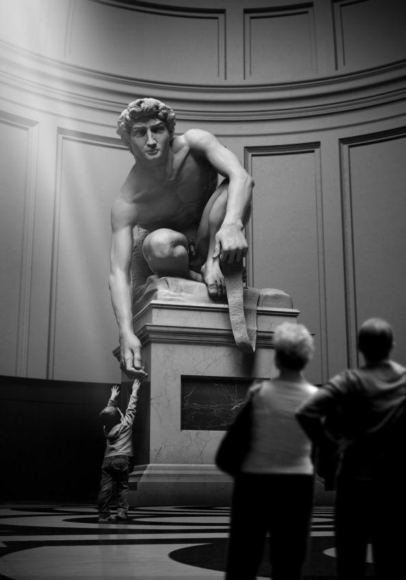 David's Bow | Michelangelo | photographer Taha Alkan