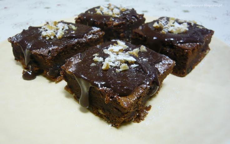 Candy Love: Brownies Picantes de Chocolate e Nozes
