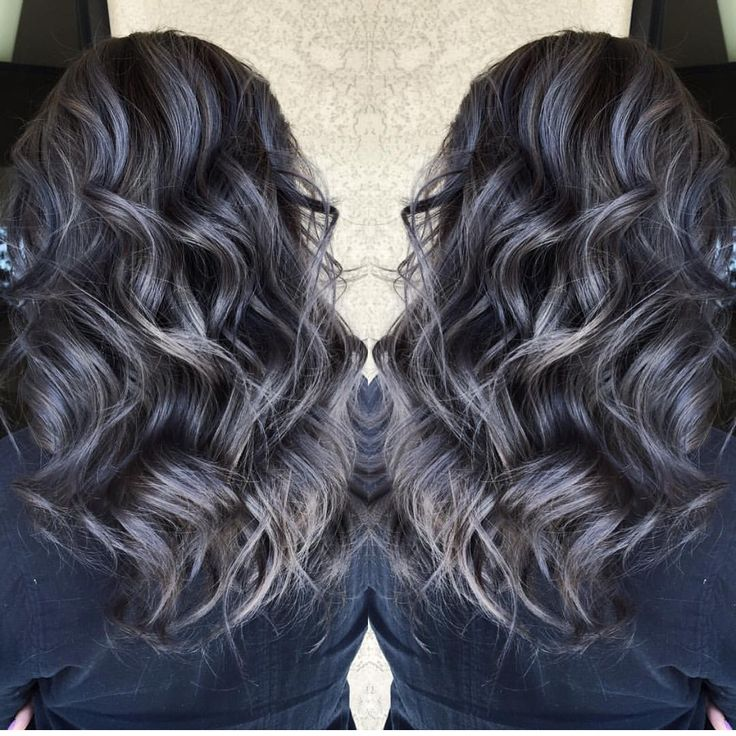 Best 25 dark silver hair ideas on pinterest dark grey hair beautiful silver gray hair highlights over smoky dark brunette hair by sydniiee she has such pmusecretfo Image collections