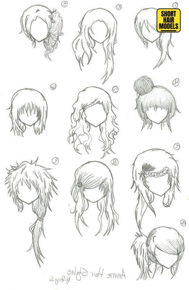 33 Short Haircut Styles Fur Frauen Fur 2020 In 2020 Haare Zeichnen Anime Haare Frisuren Zeichnen
