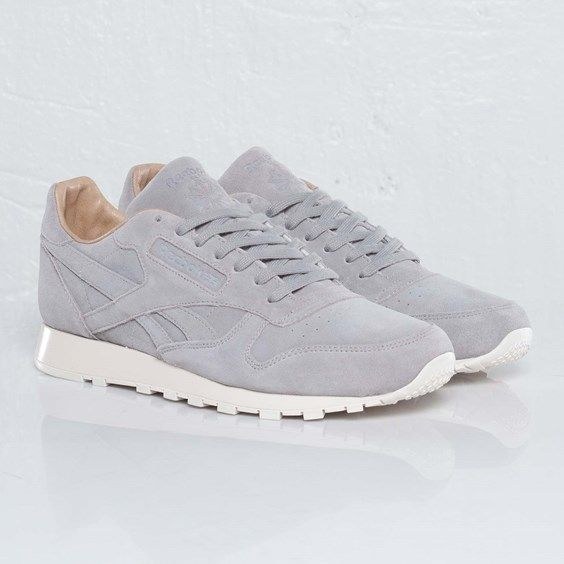 Via Sneakers n Stuff | Minimal Reebok Classic Leather Lux | Grey http://www.pinterest.com/modaoutlet