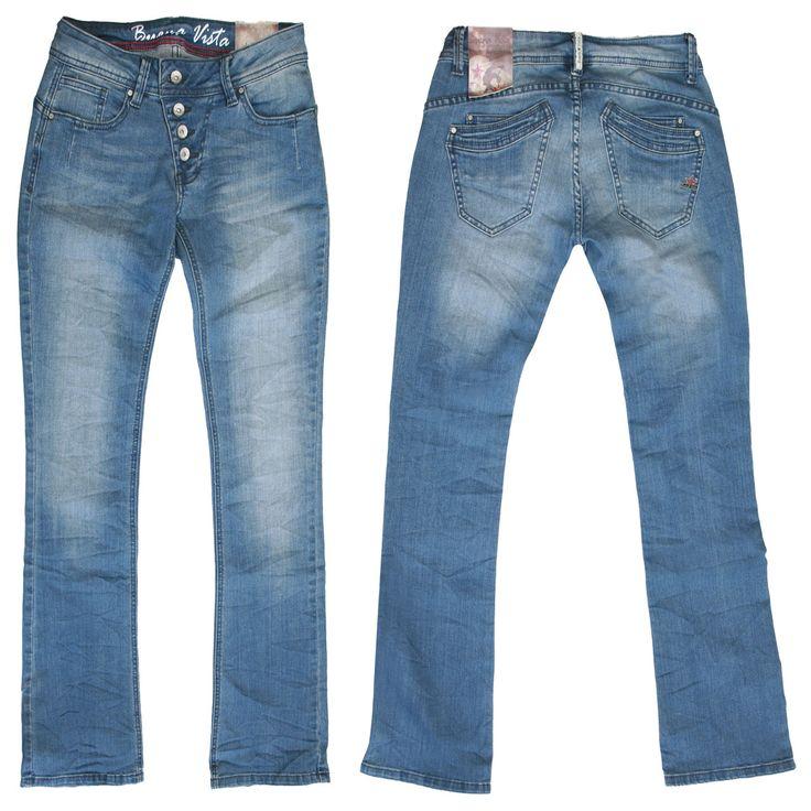 buena vista jeans malibu flare middle blue durch die. Black Bedroom Furniture Sets. Home Design Ideas