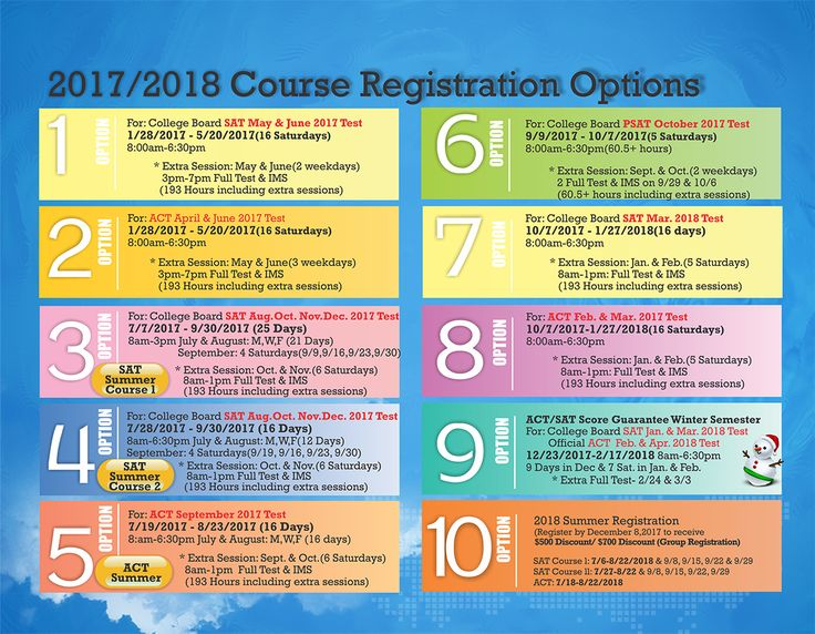 #SAT #ACT Prep Course Registration Options for 2017-18   Y2 Academy Cherry Hill, NJ