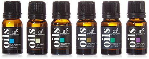 ArtNaturals Set de Huile Essentielle – (8 x 10ml): Set de 6 flacons de 10 ml pour une aromathérapie curative et purifiante. Chaque huile…