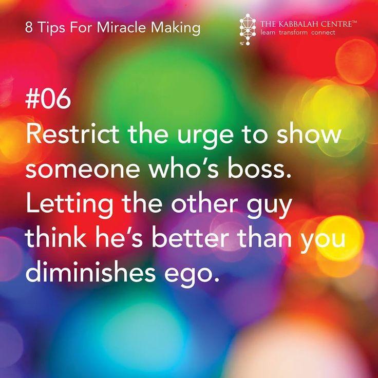 8 Tips For Miracle Making #Kabbalah #OneSoul #Light #RavBerg #KarenBerg