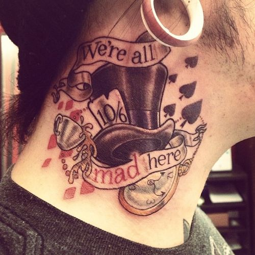We're all mad here. #aliceinwoderland #madhatter #tattoo ...