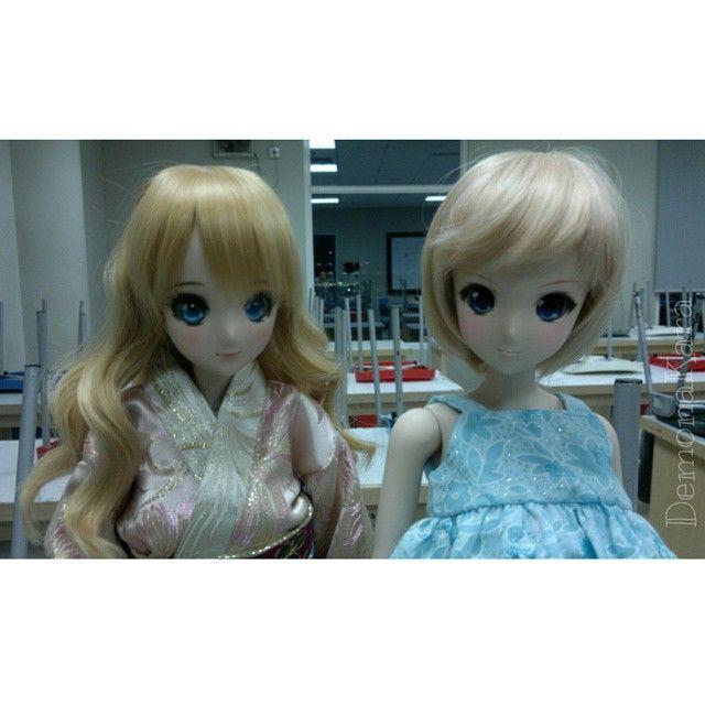 Mirai Suenaga and Kizuna Yumeno Smart Doll by dem_o_na_kara