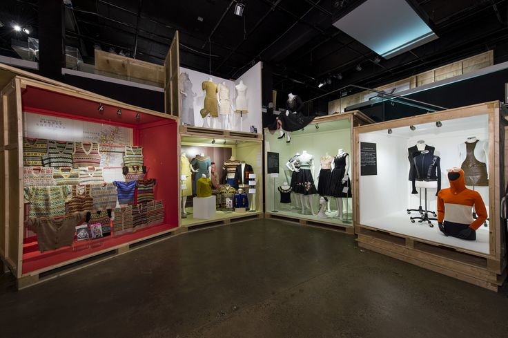 Ground floor gallery of #KNITWEAR Chanel to Westwood exhibition Image (c) Fashion and Textile Museum  www.ftmlondon.org