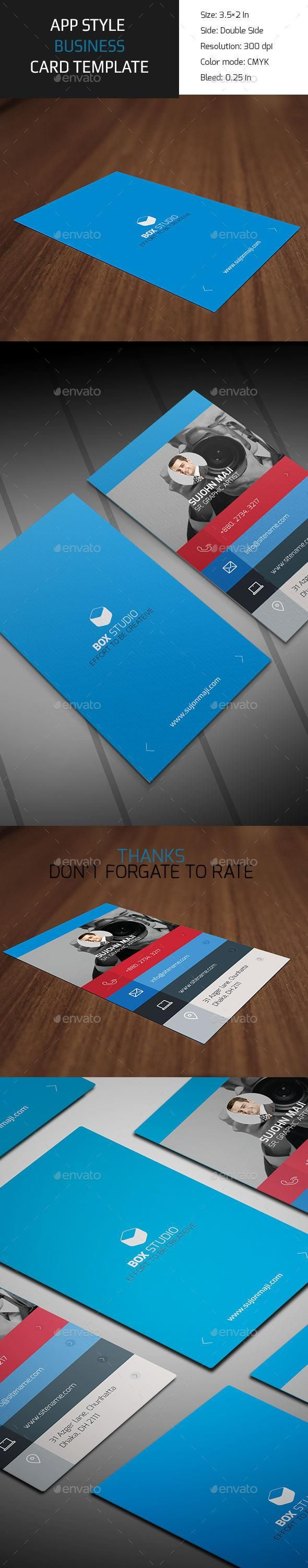 App Style Business Card #template #creative #business