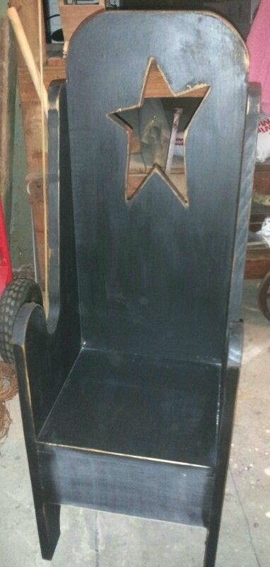 "Primitive 36"" tall Pouting Chair... $39.96"